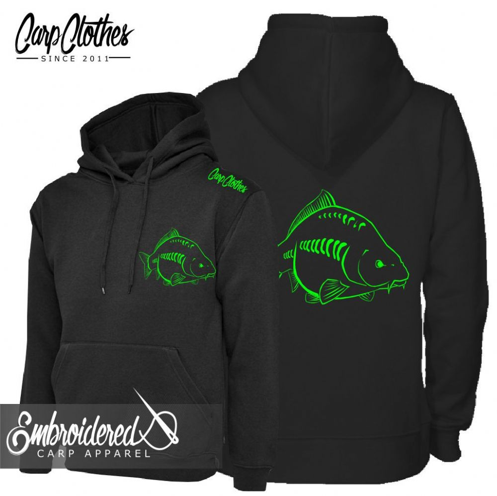 026 NEON EMBROIDERED CARP  HOODIE